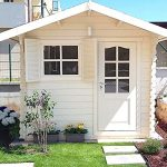 Casa de madera para jardín