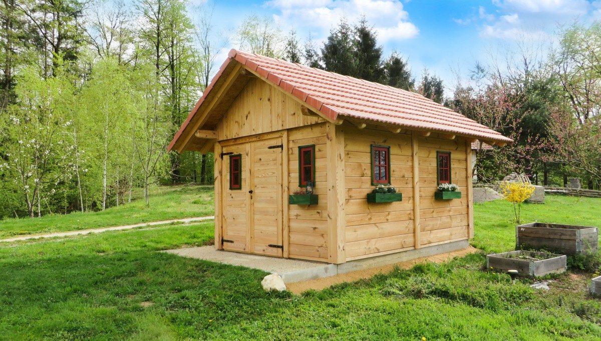 Caseta de madera de jardín