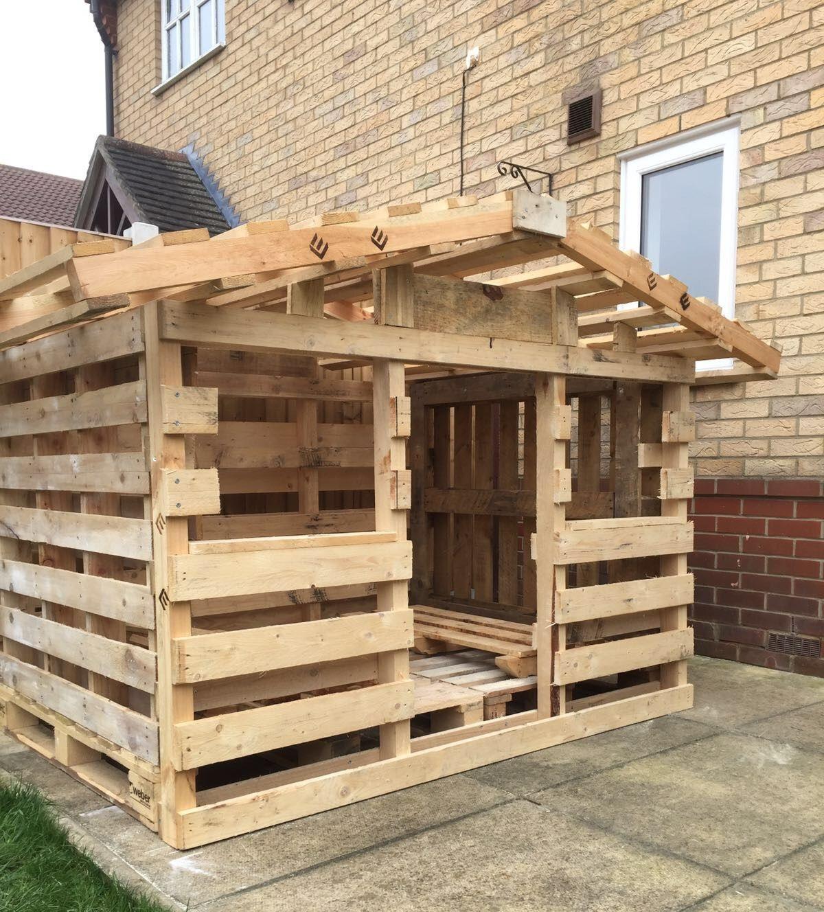 C mo hacer una caseta con palets de madera casetas - Cosas de madera para hacer ...