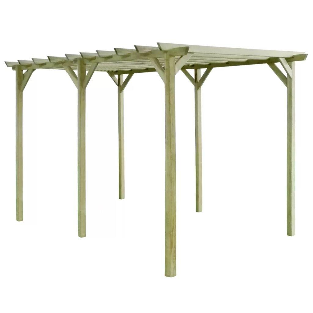 Pergola de madera para jardín